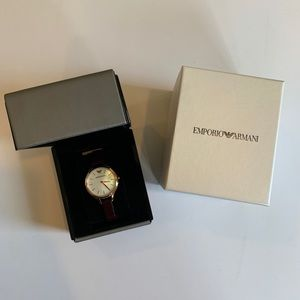 New Emporio Armani leather band watch